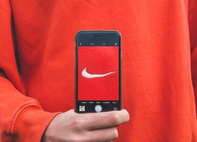 Nike's logo is a big part of their brand identity