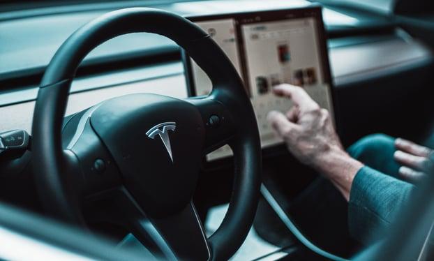 Teslas minimal branding and design